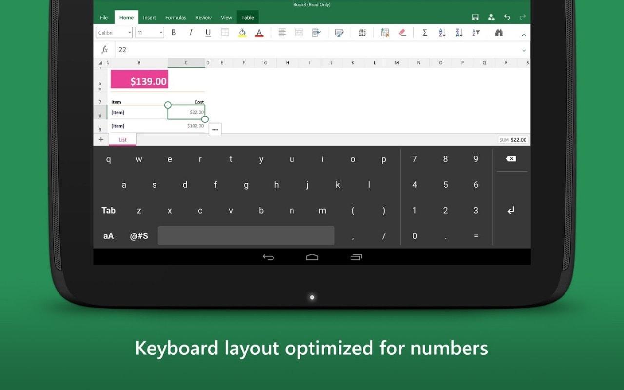 Microsoft rilascia una tastiera per Excel utilizzabile fuori da Excel ma non in Italia (download apk)