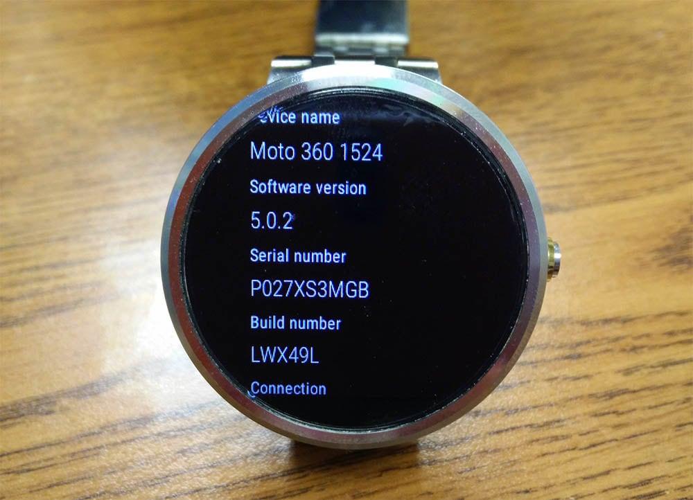 Android Wear 5.0.2 arriva su G Watch R, Moto 360 e Gear Live