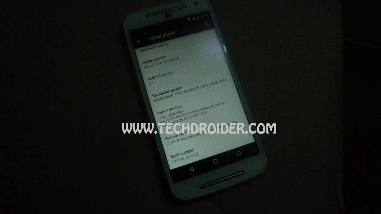 moto g (2014) android 5.1