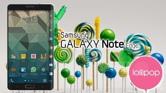 Android 5.0 Lollipop su Samsung Galaxy Note Edge grazie ad una build trapelata