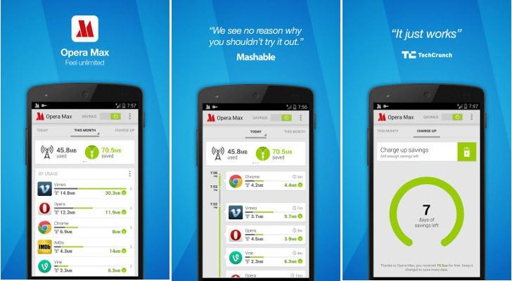 Opera Max ci fa risparmiare dati anche in WiFi