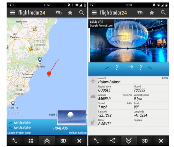 project loon flightradar24