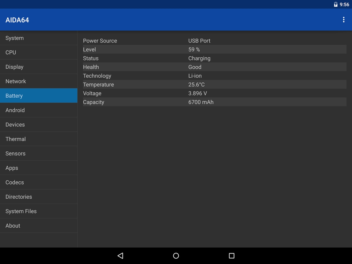 AIDA64 Nexus 9