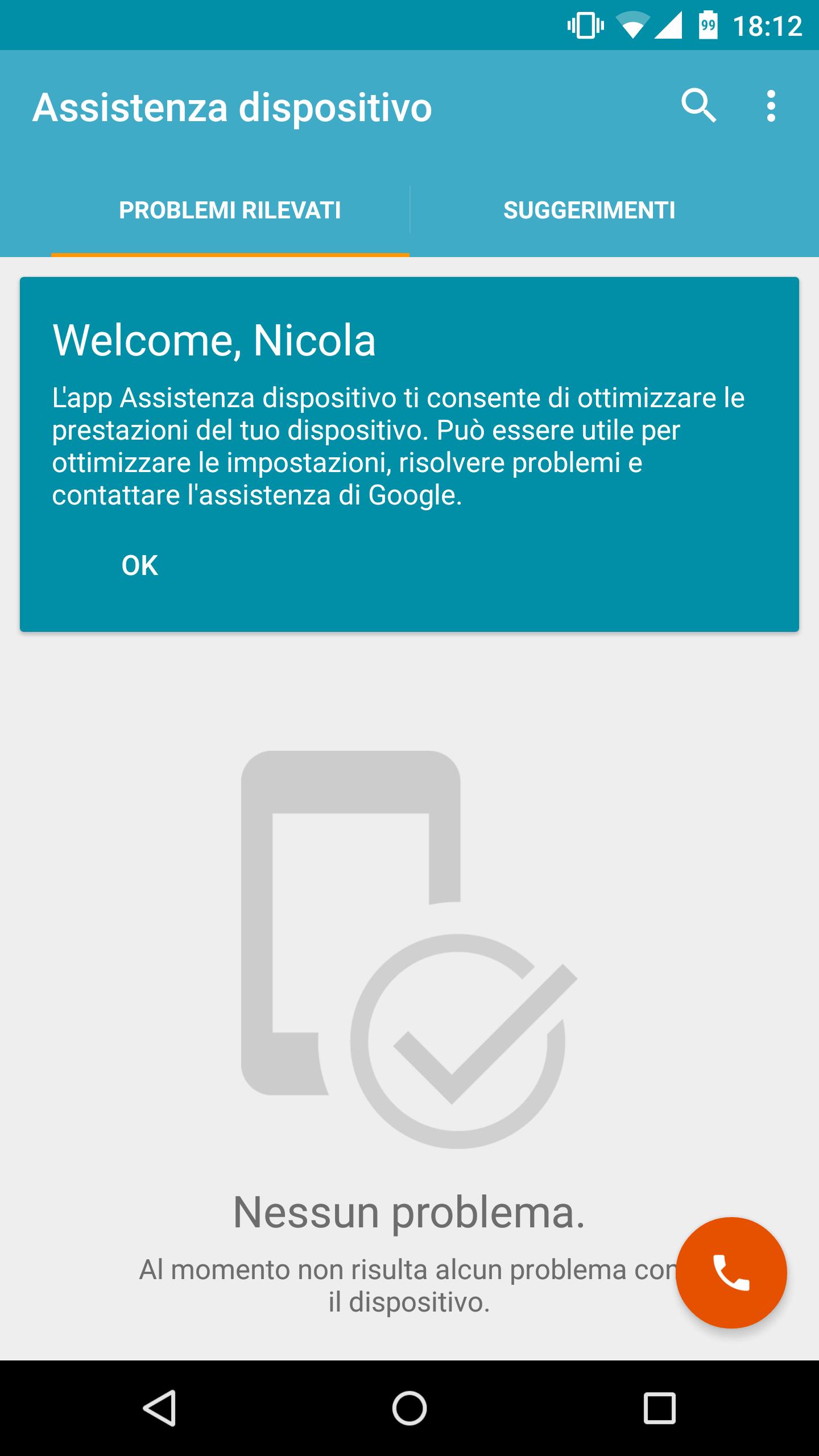 Assistenza dispositivo screenshot – 1