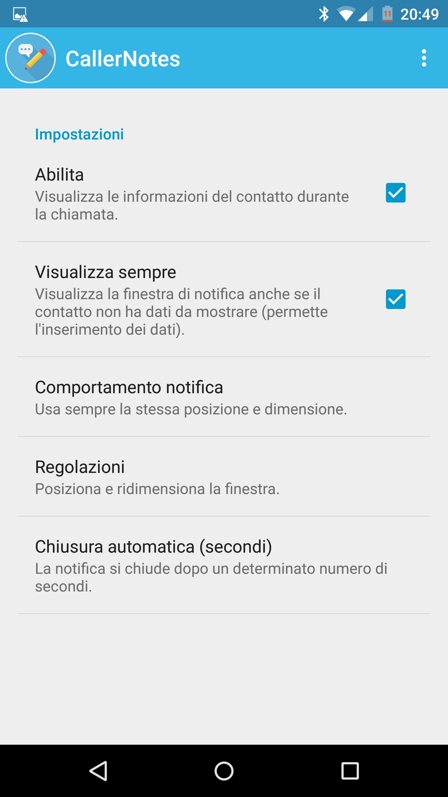 Caller Notes Screenshot – 1