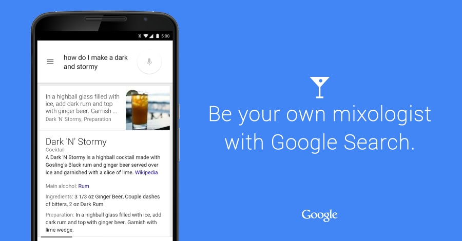 Cocktail google now