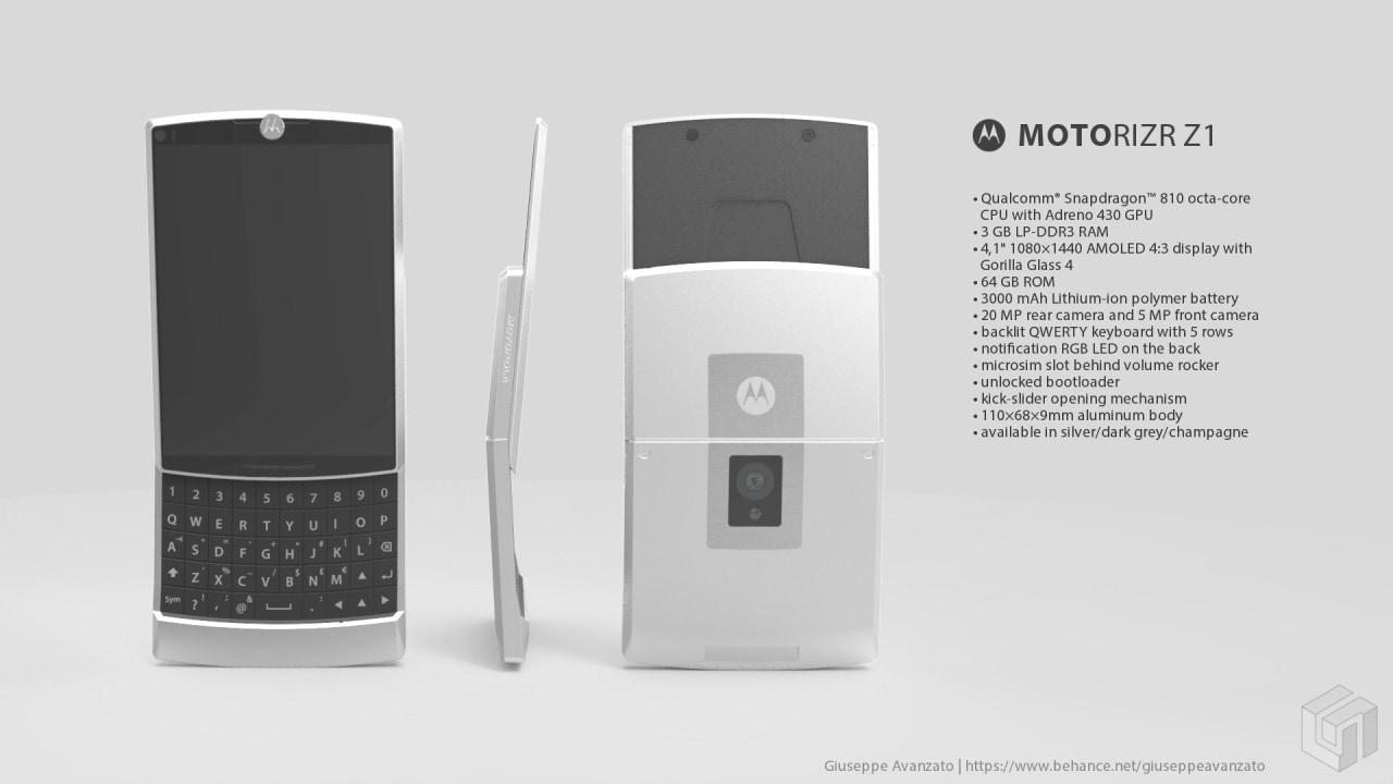 Questi concept di un Motorola QWERTY vi faranno venire voglia di averne uno (foto)