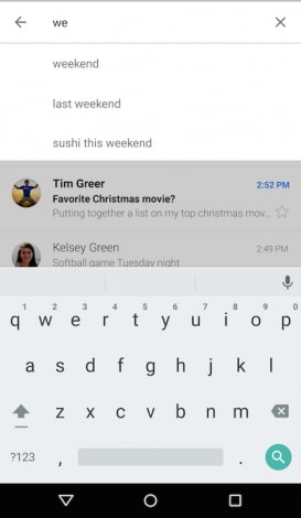 Gmail Smart Search (with new keyboard)