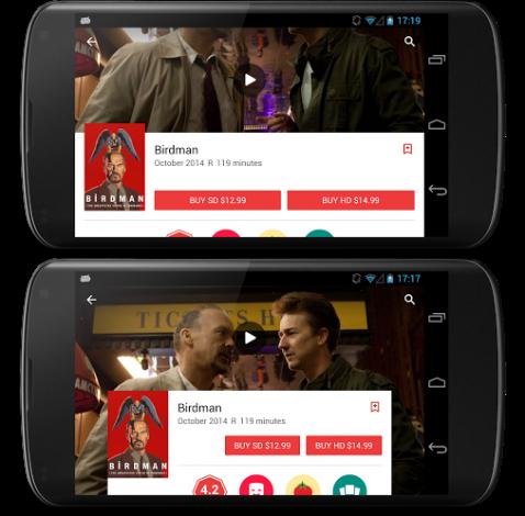 Google Play Store dettagli confronto
