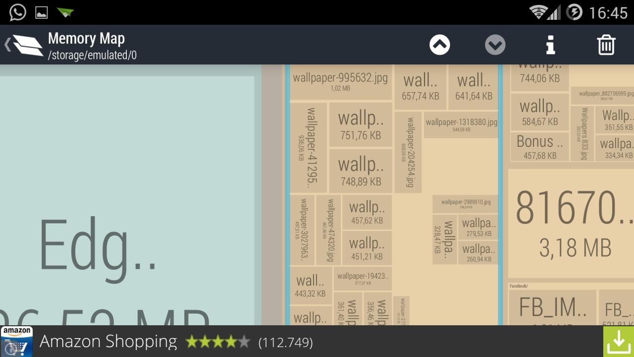 Visualizzare l'utilizzo di memoria sullo smartphone con Memory Map (foto)