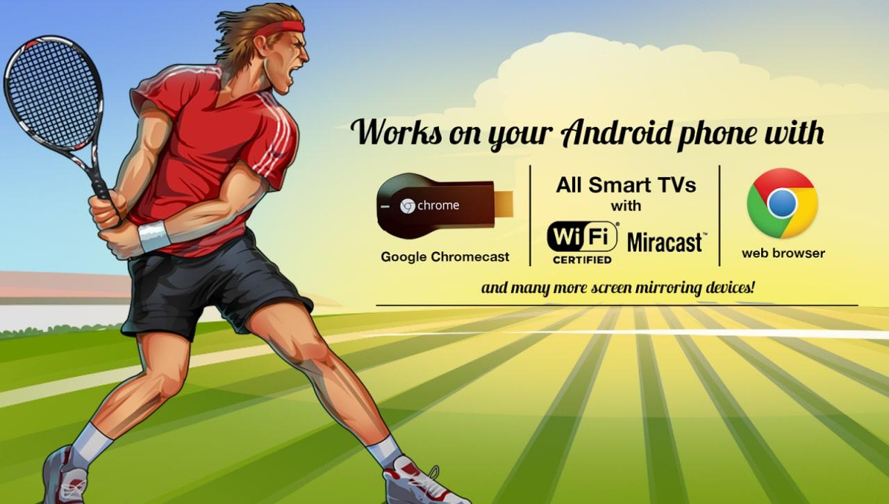 Android è una racchetta da tennis per giocare con Chromecast, e non solo (foto e video)