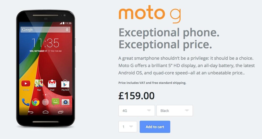 Moto G (2014) LTE