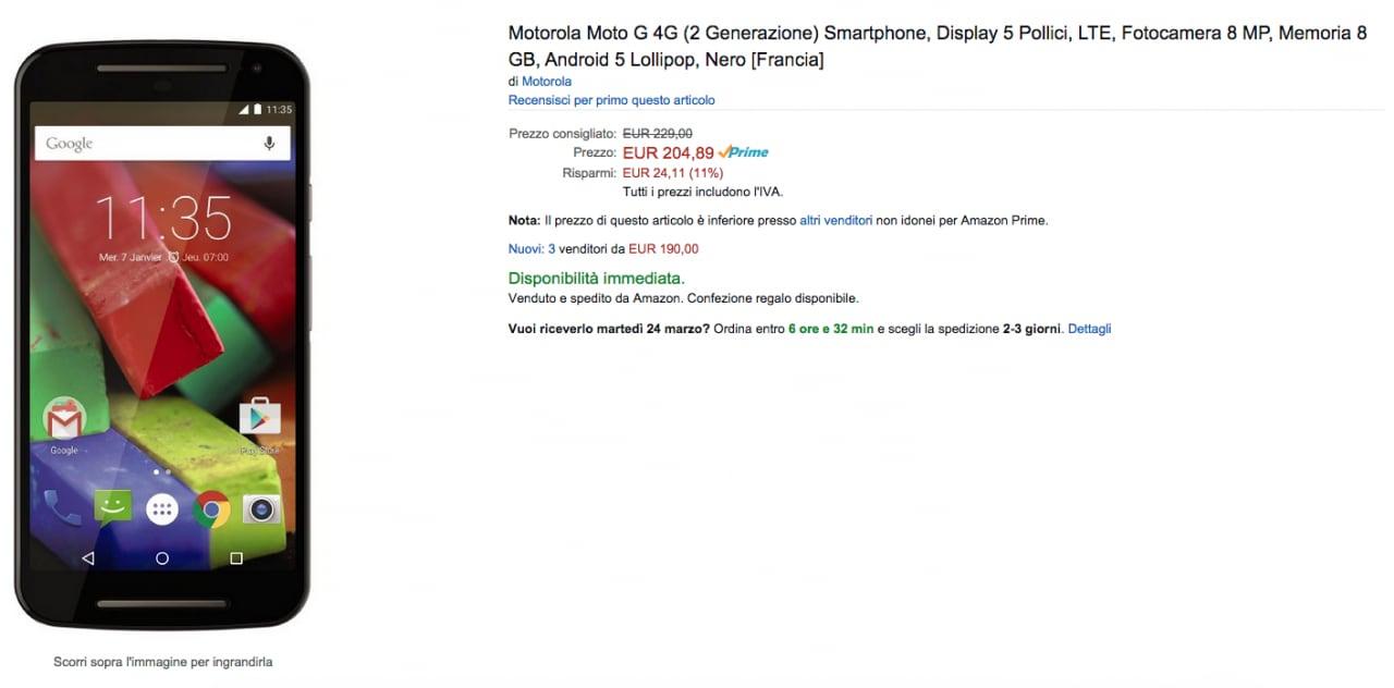 Moto G 2014 LTE