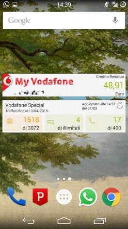 MyVodafone contatori