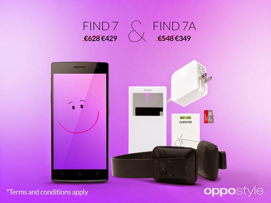 Oppo taglia il prezzo di Find 7 e Find 7a: da oggi a 429 e 349 euro