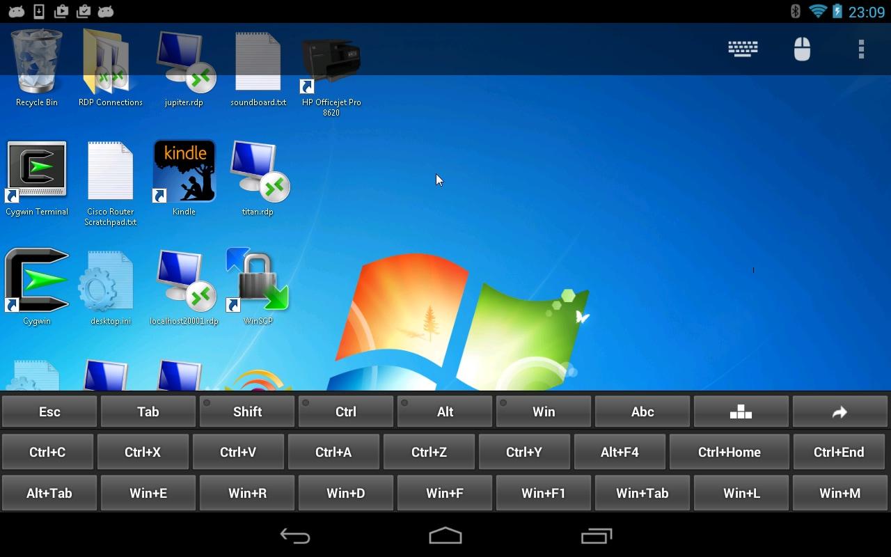 Remote desktop client head