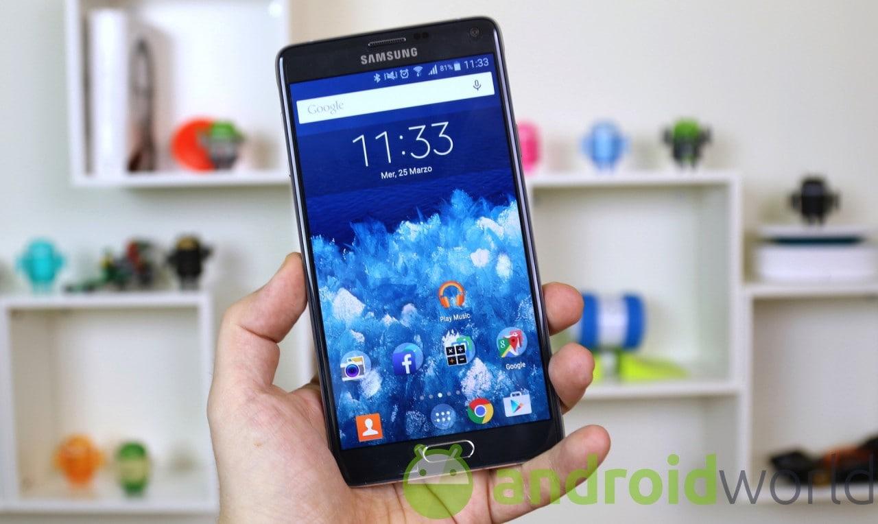 Samsung Galaxy Note 4 si aggiorna a Marshmallow, per lo meno in Ungheria (foto)