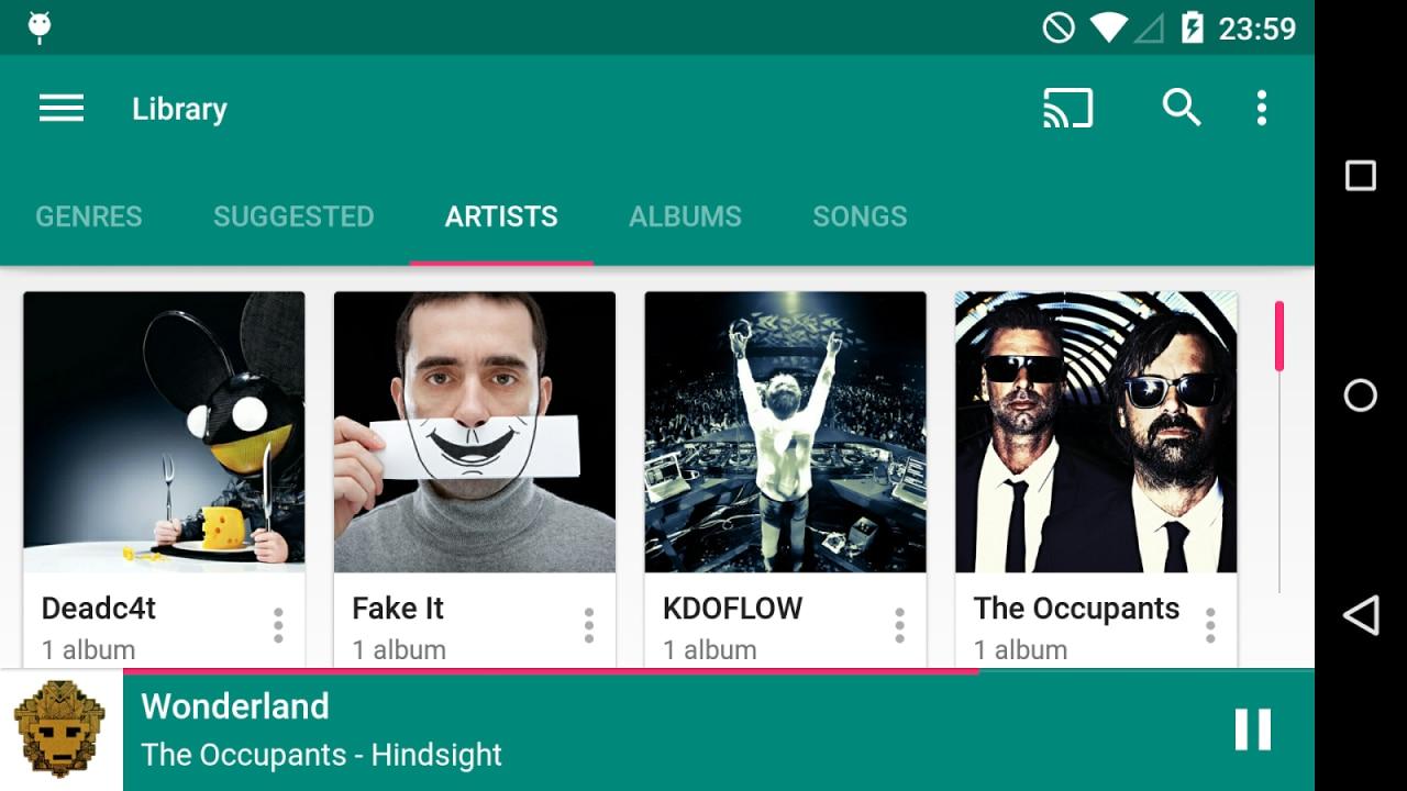 Shuttle Music Player Material Design screenshot - 14