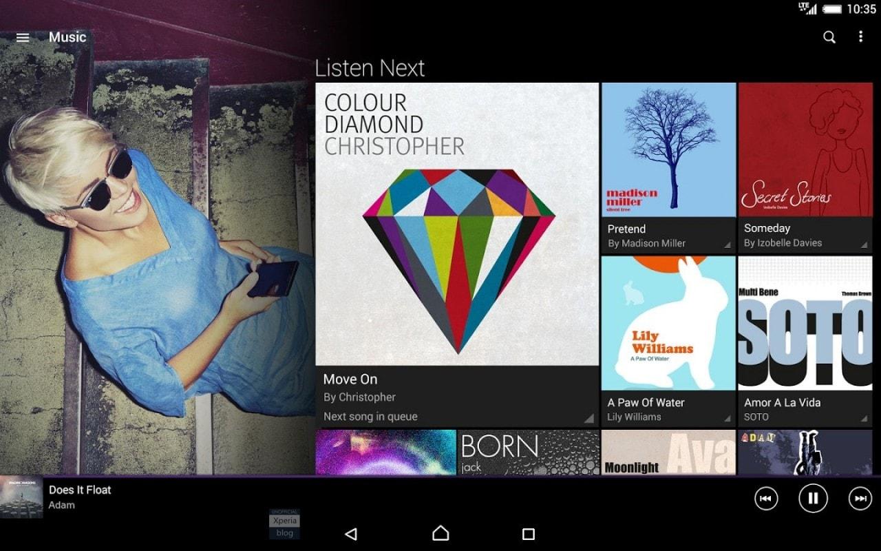 Sony Xperia Music nel Play Store per sostituire Walkman