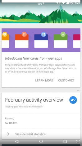 card app google now 1