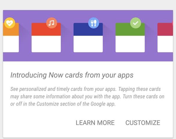 Le schede di app di terze parti arrivano su Google Now negli USA (aggiornato: anche in Italia)