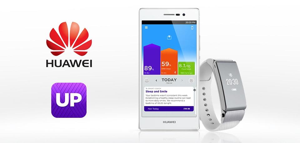 Huawei adotta la piattaforma di Jawbone per i propri wearable