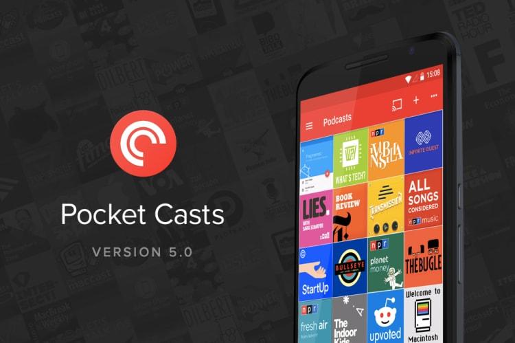 Pocket Cast si aggiorna con supporto a Nougat, condivisione degli elenchi e fix