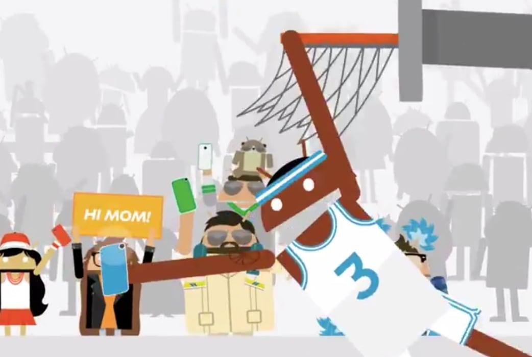 Selfie e schiacciate nell'ultima pubblicità di Android (video)