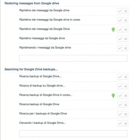 ripristino chat WhatsApp Google Drive