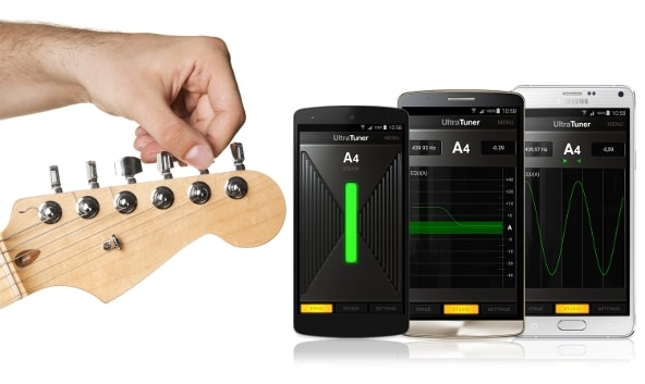 UltraTuner vi permette di accordare uno strumento con lo smartphone