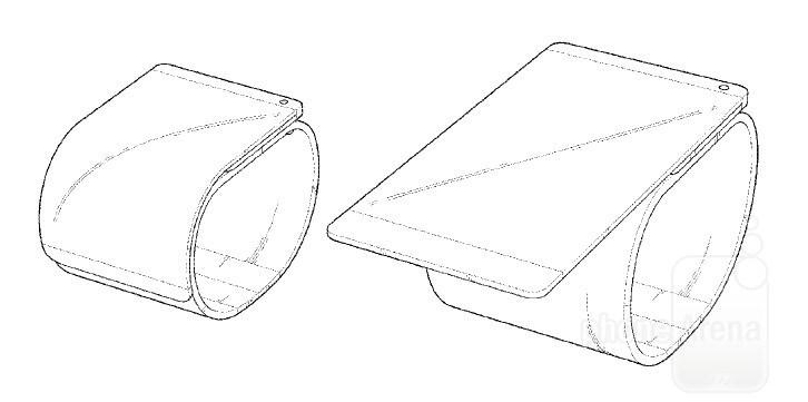 LG brevetta uno smartphone flessibile che si aggancia ad un bracciale (foto)