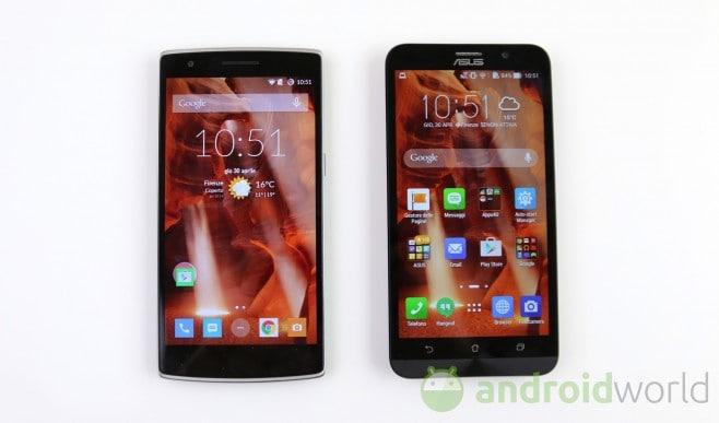 Confronto Zenfone 2 - OnePlus One  - 1