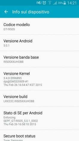 Galaxy S4 Vodafone Lollipop