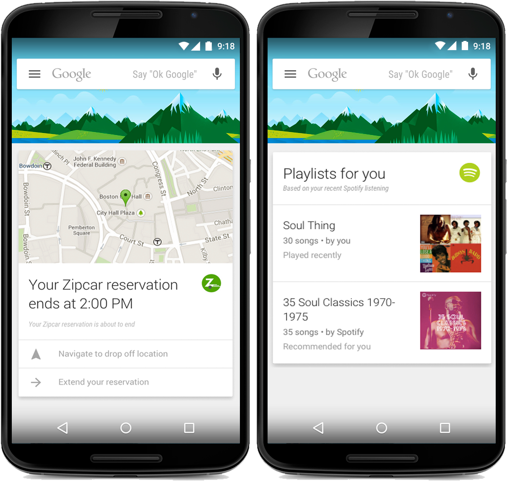 Google Now card terze parti