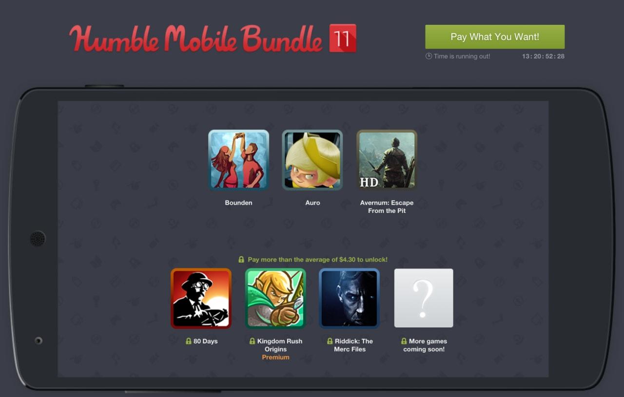 Humble Mobile Bundle 11 arriva a quota 8 giochi, disponibili per meno di 4,20€