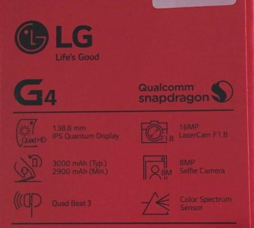 LG G4 confezione - 1