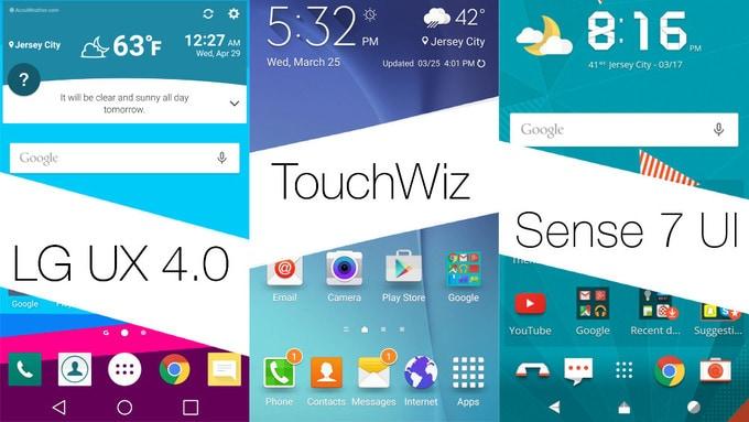 LG UX TouchWiz Sense