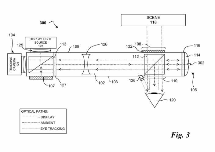 brevetto google glass eye tracking