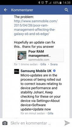 facebook samsung mobile uk screen