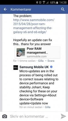 facebook samsung mobile uk screen