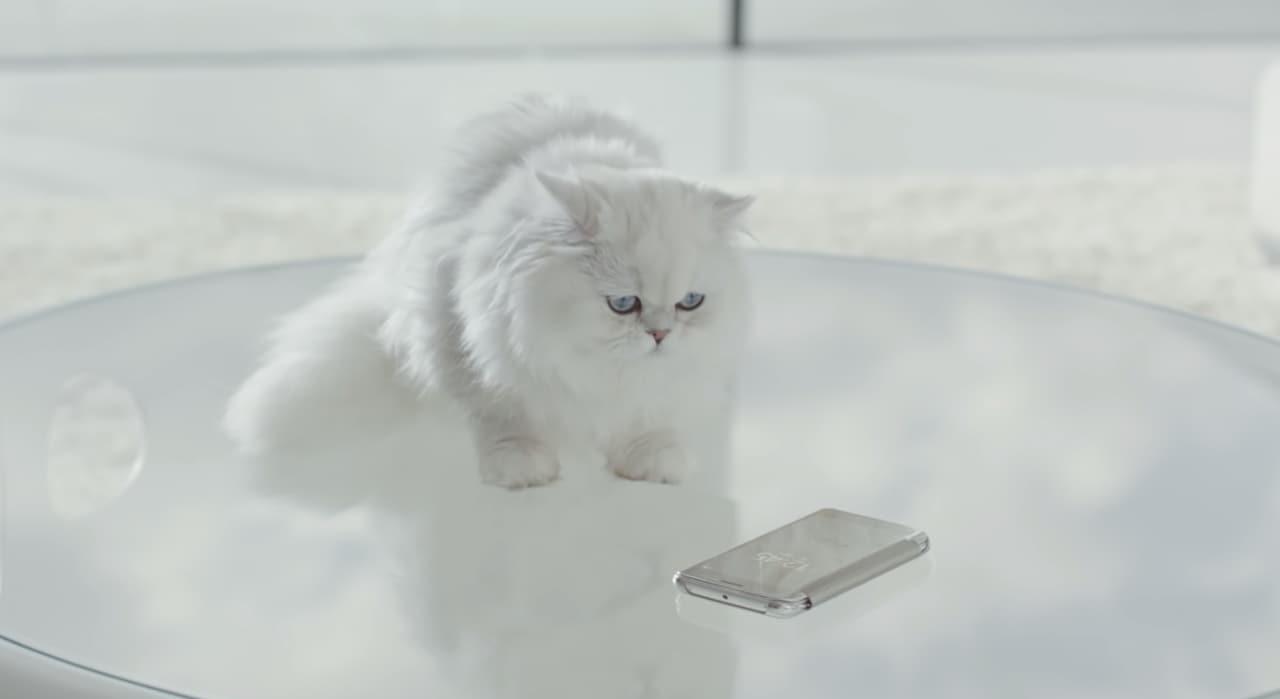 La cover Clear View di Galaxy S6 stupirà persino il vostro gatto (video)