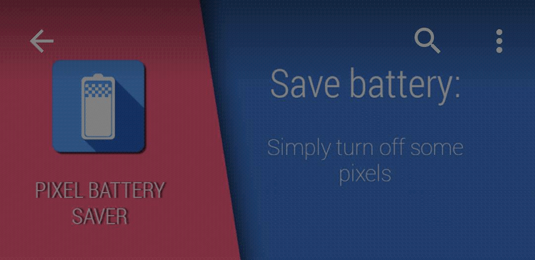 Aumentare l'autonomia degli smartphone con schermo AMOLED: Pixel OFF (foto)