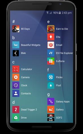 3 - WLauncher V4 - Phone Apps Drawer
