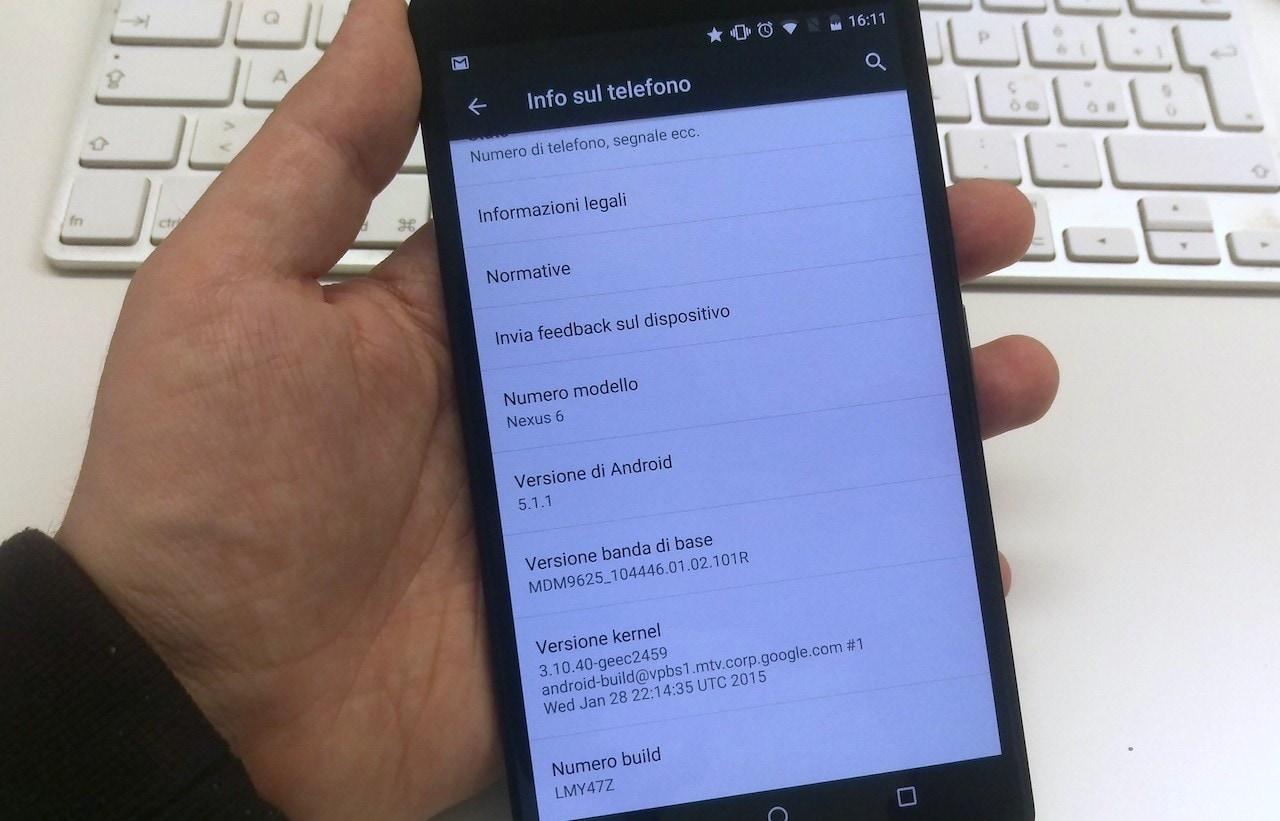 Android 5.1.1 Nexus 6