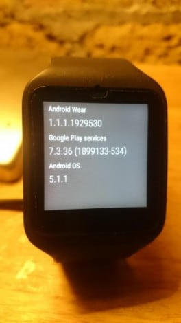 Android-5.1.1-Wear smartwatch 3