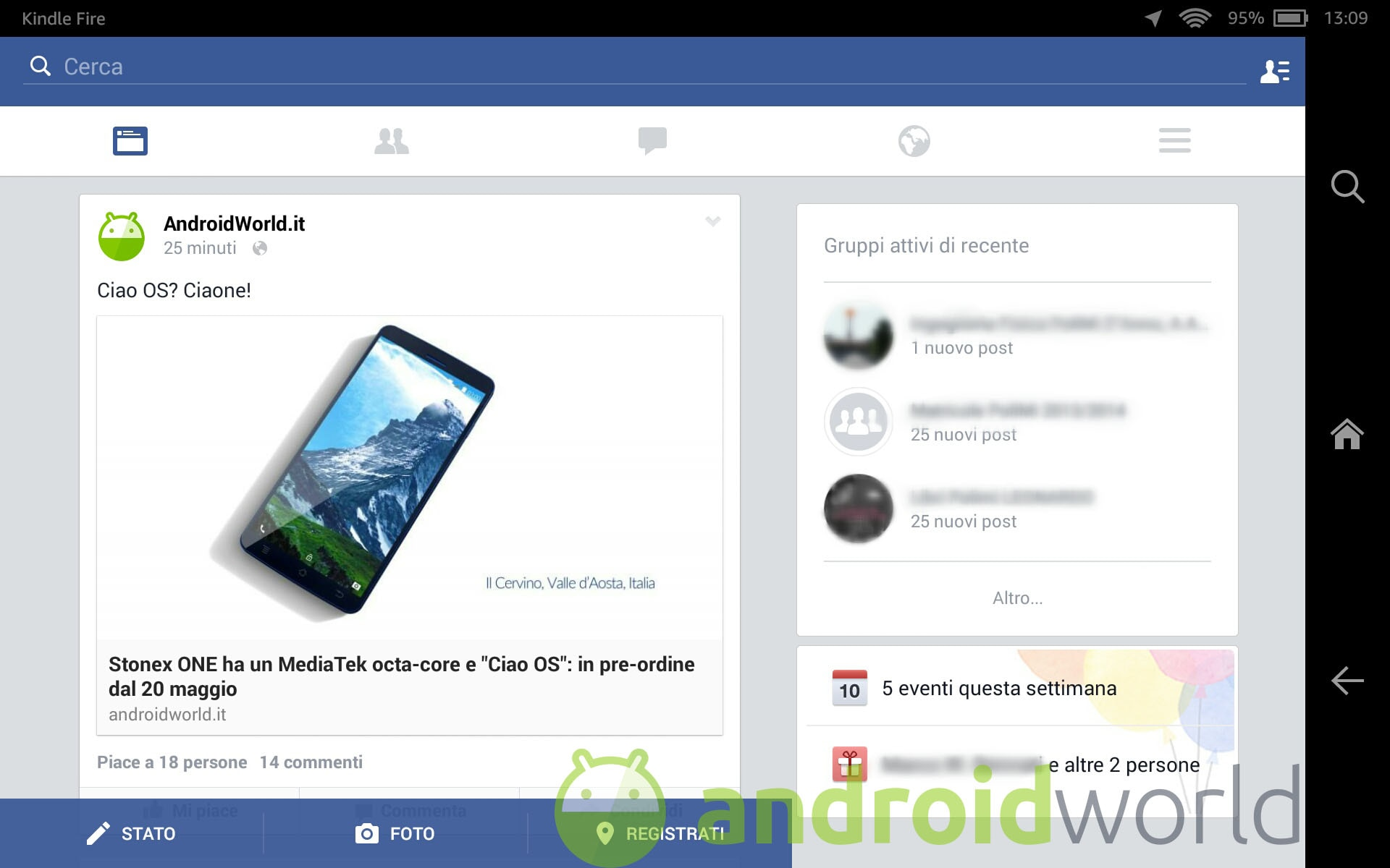 Avete Mai Visto Questa Interfaccia Di Facebook Su Tablet