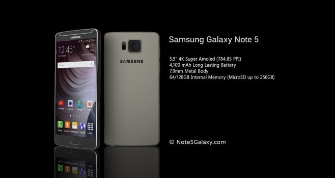 Galaxy Note 5 concept render - 4