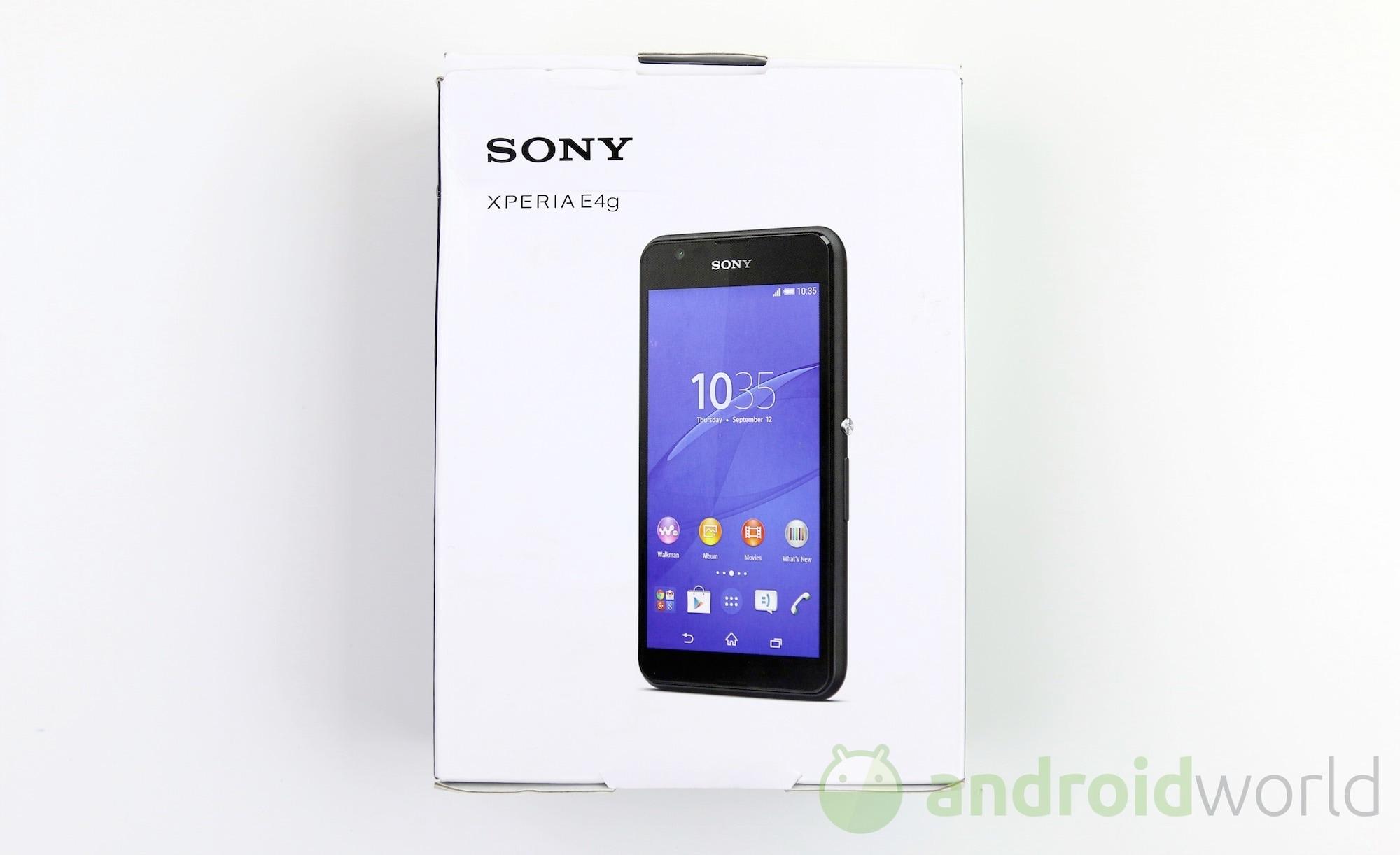 Sony Xperia E4g Il Nostro Unboxing Foto E Video Foto