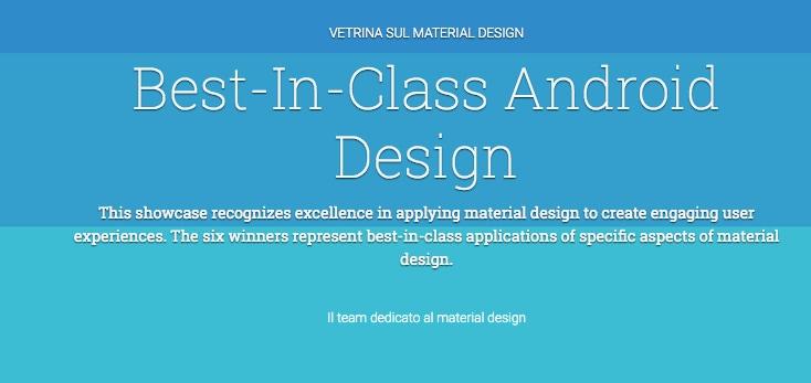 Google ci suggerisce le più belle app in Material Design