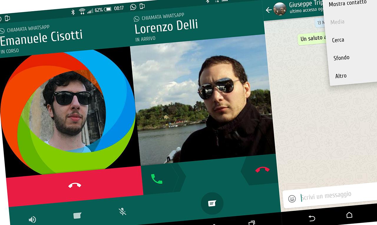 WhatsApp Material Design Chiamate